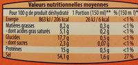 Bouillon de poule - Voedingswaarden - fr