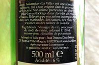 Vinaigre basalmique de modene - Ingrédients - fr