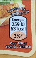 Sauce Frites - Informations nutritionnelles - fr