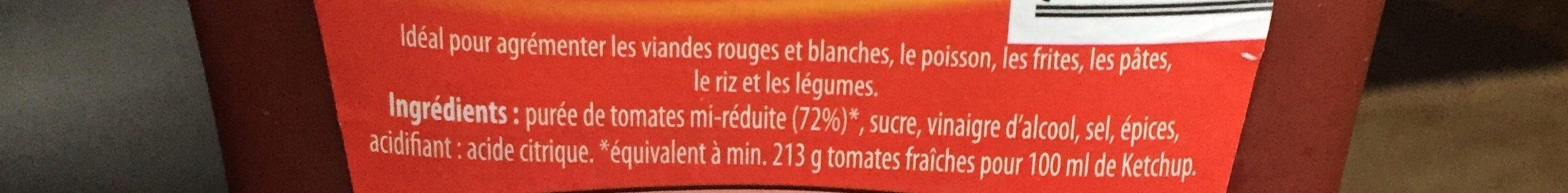 Ketchup à la tomate - Ingredients - fr