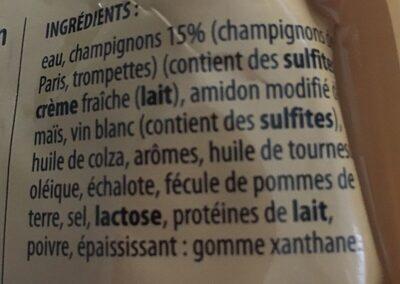 Sauce oseille - Ingrédients