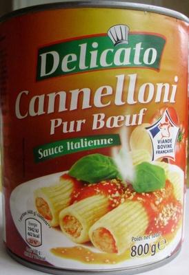 Cannelloni Pur Bœuf (Sauce Italienne) - Produit