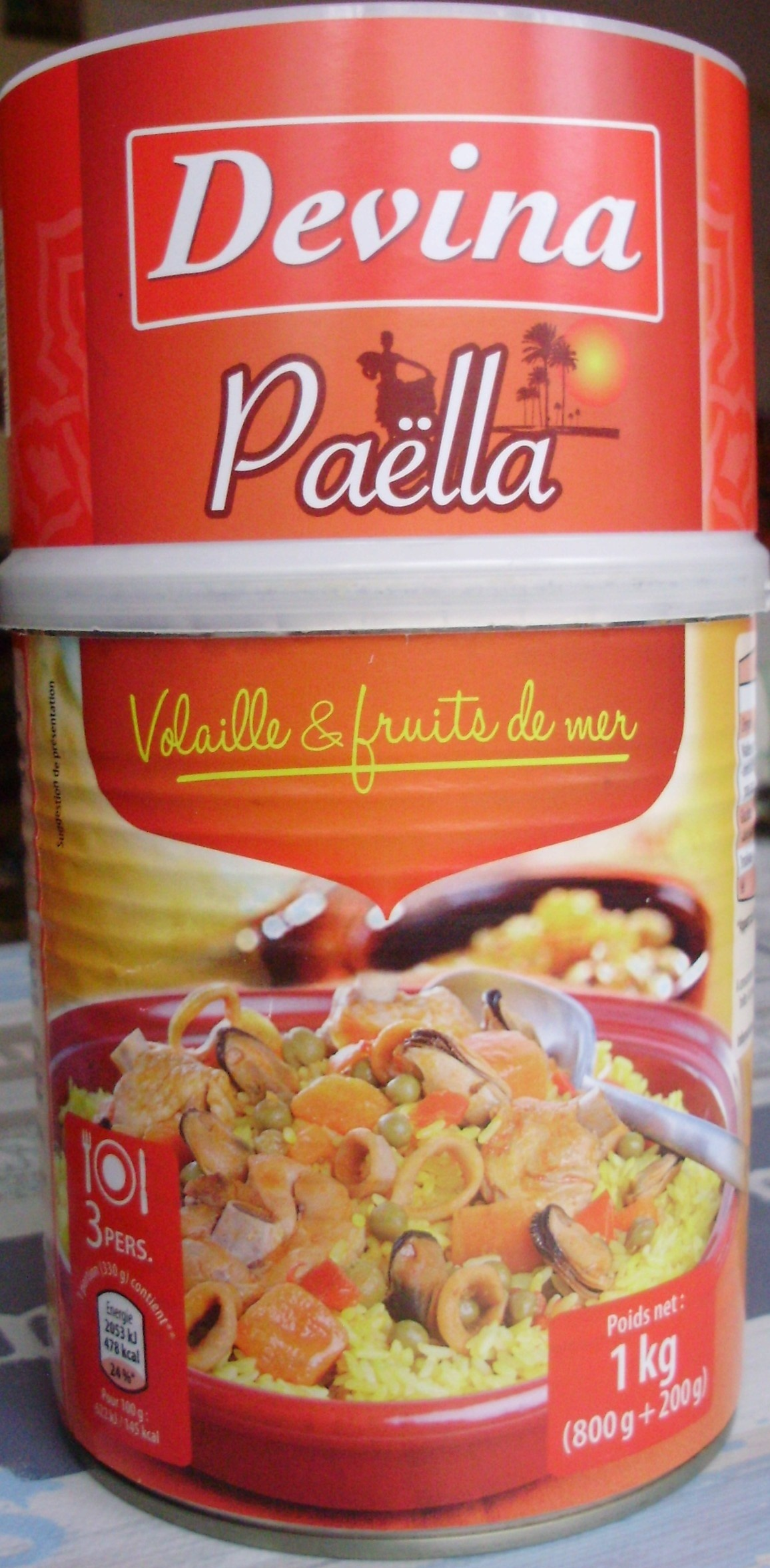 Paëlla (Volaille & fruits de mer) - Product