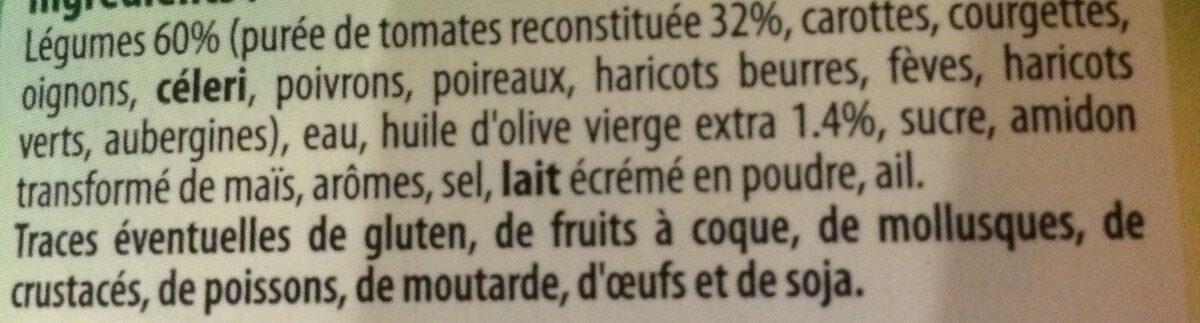 Velouté de légumes au fromage fondu - Ingrédients