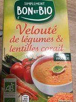 Velouté de légumes et lentilles corail b - Product