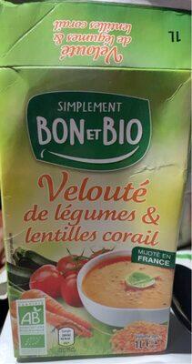 Veloute de legumes et lentilles corrail - Product - fr