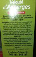 Velouté de légumes - Ingredients