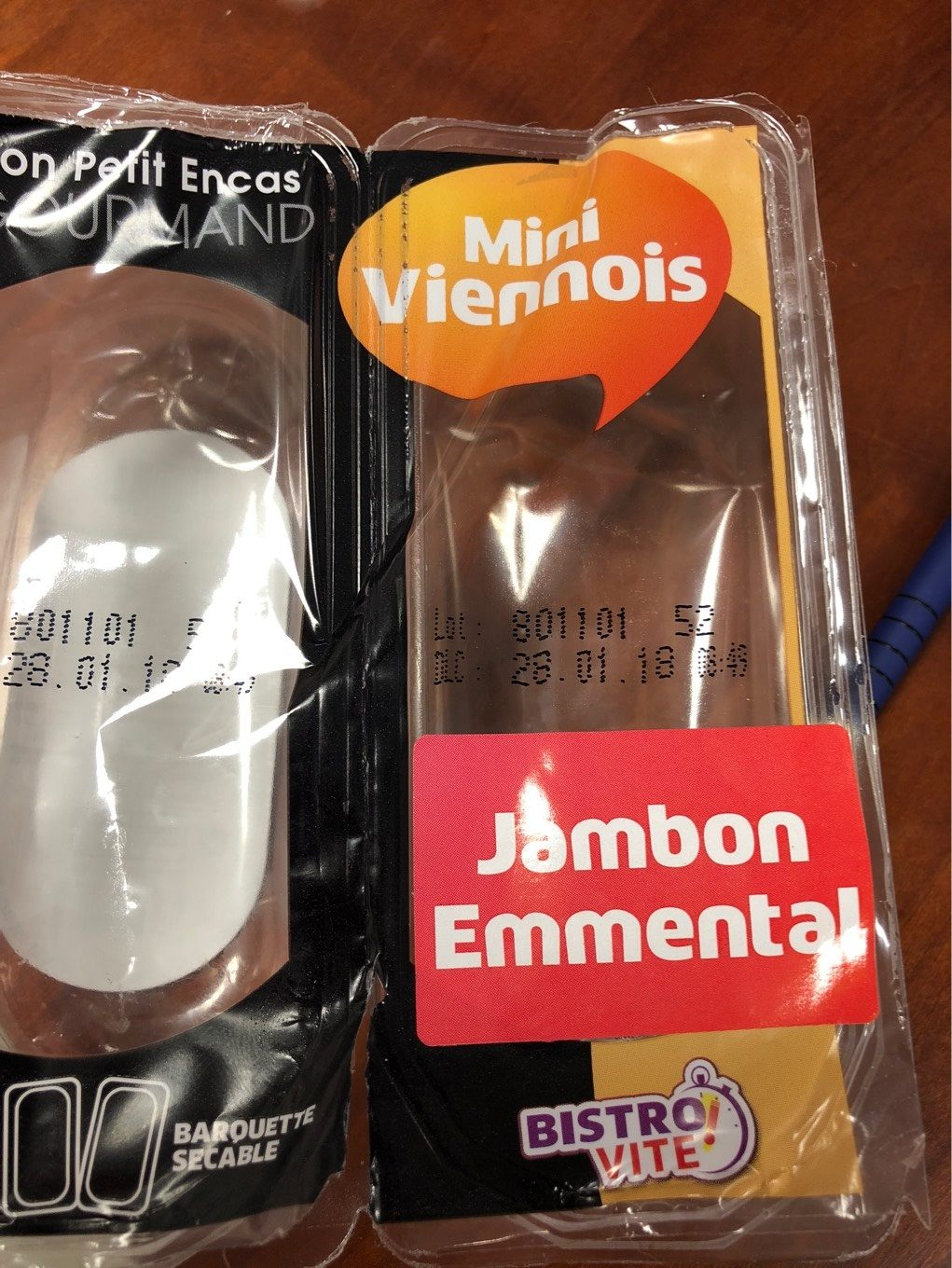 Mini viennois jambon emmental - Product