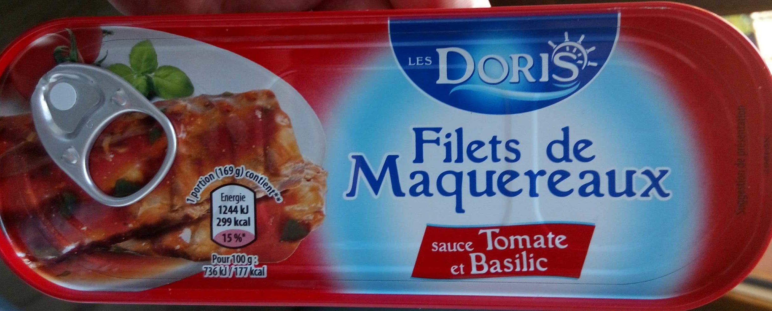 Filets de Maquereaux (à la sauce Tomate et au Basilic) - Product - fr