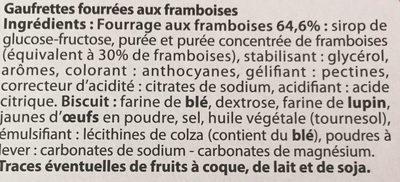 Gaufrettes framboises - Ingredients - fr