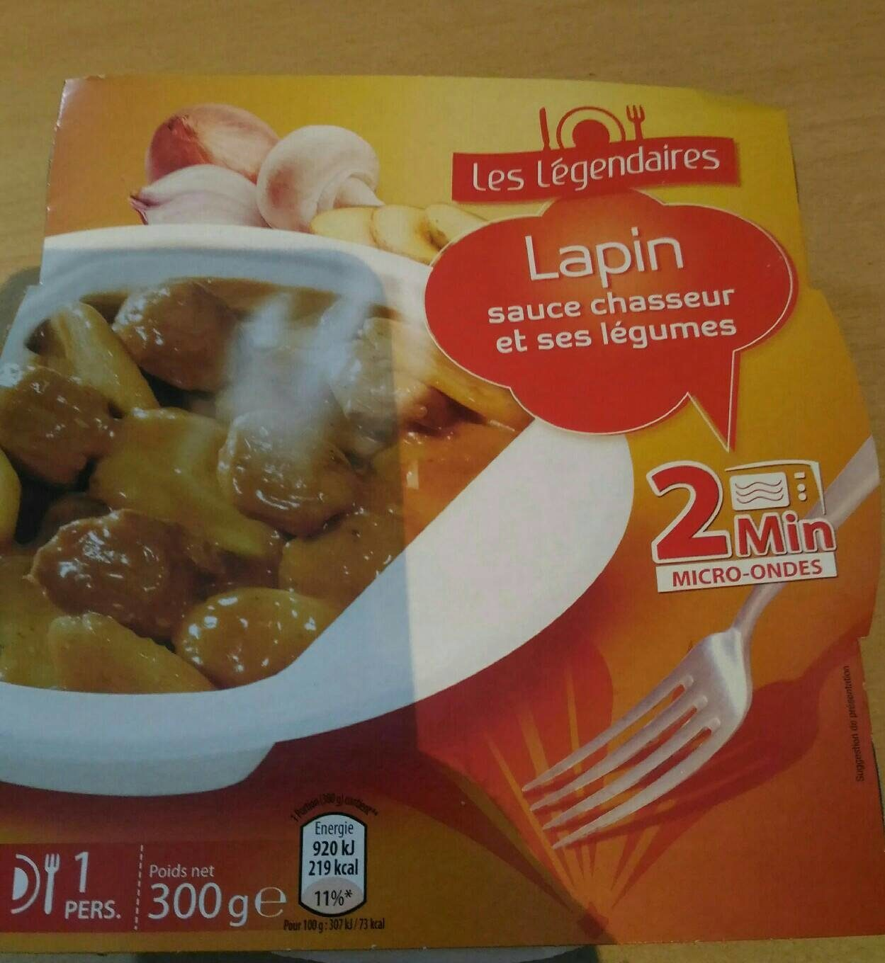 Lapin sauce chasseur - Product