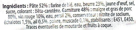 Pâté Lorrain - Ingrediënten