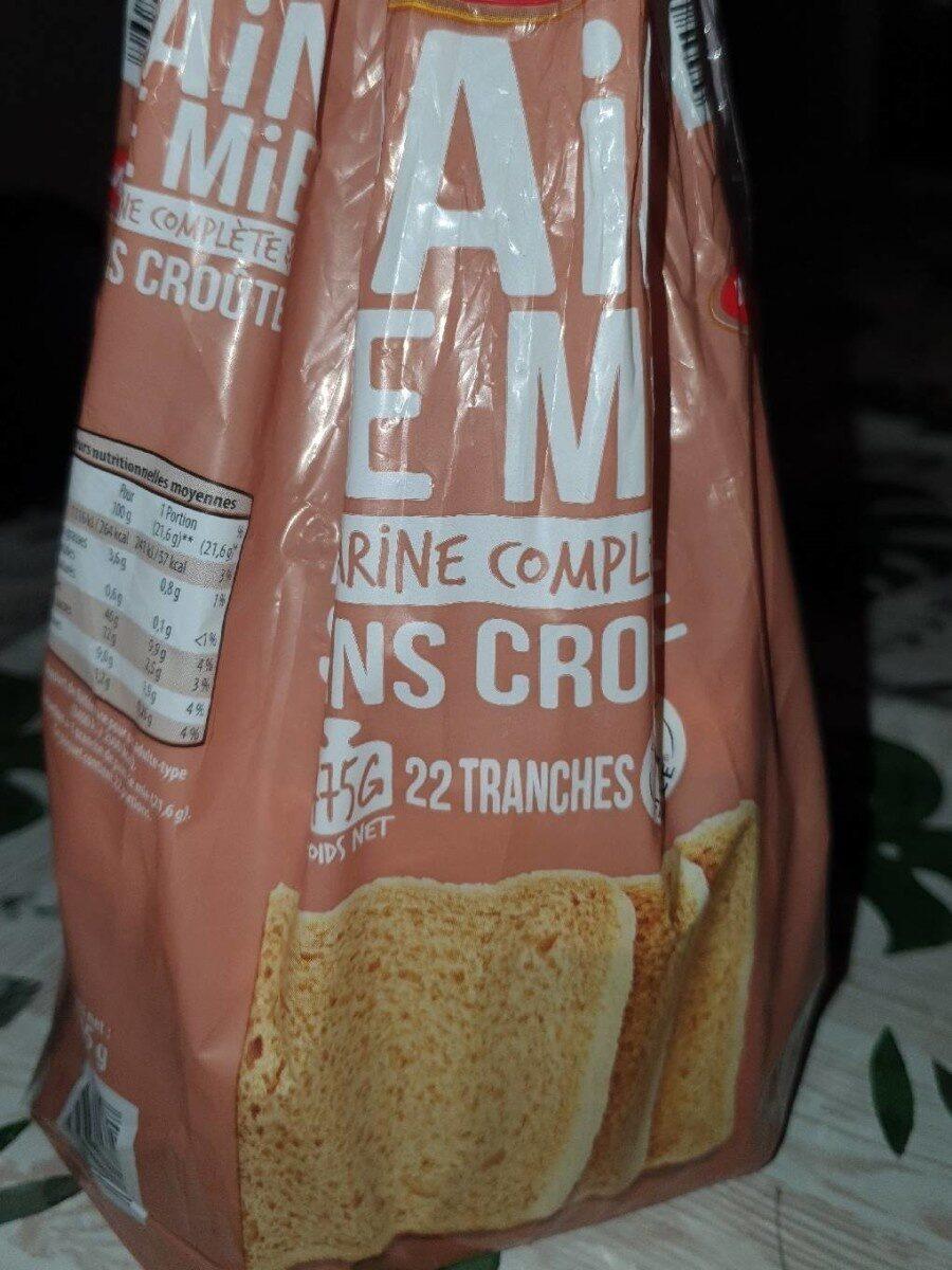 Pain de mie farine complète sans croute - Prodotto - fr