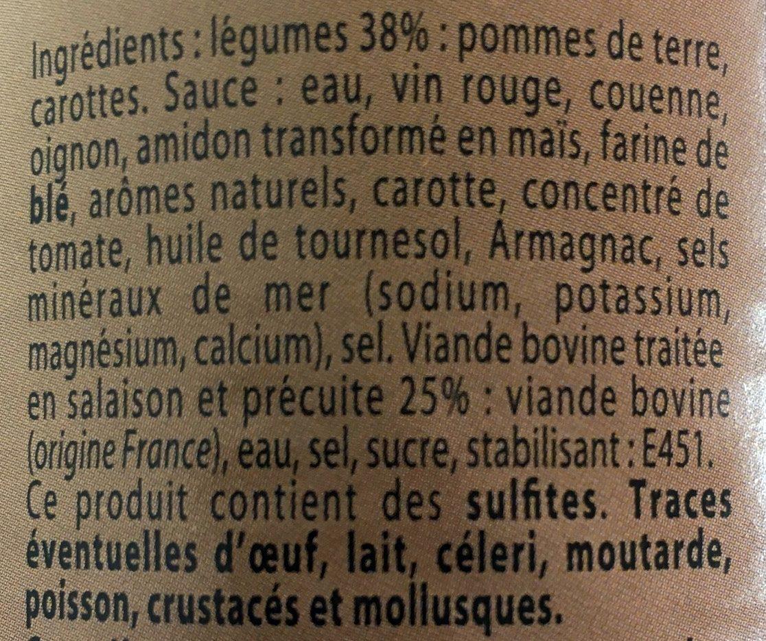 Bœuf Bourguignon - Ingrediënten