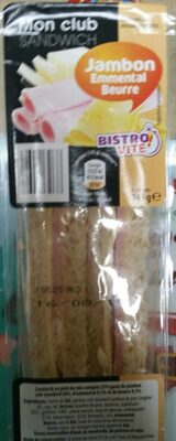 Mon club sandwich jambon emmental beurre - Produit - fr