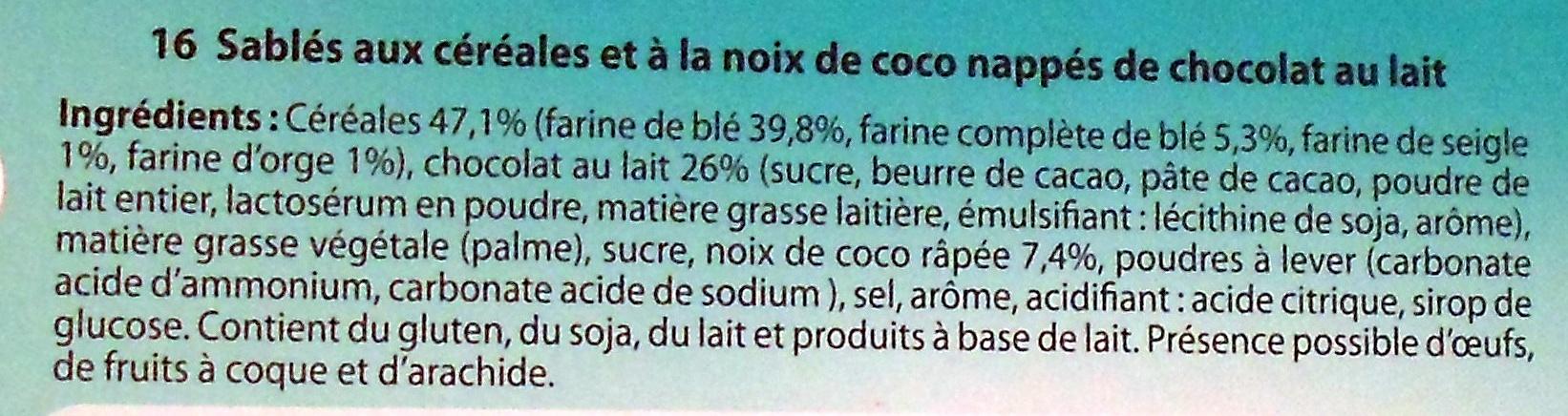 Sablés aux céréales - Ingrédients - fr