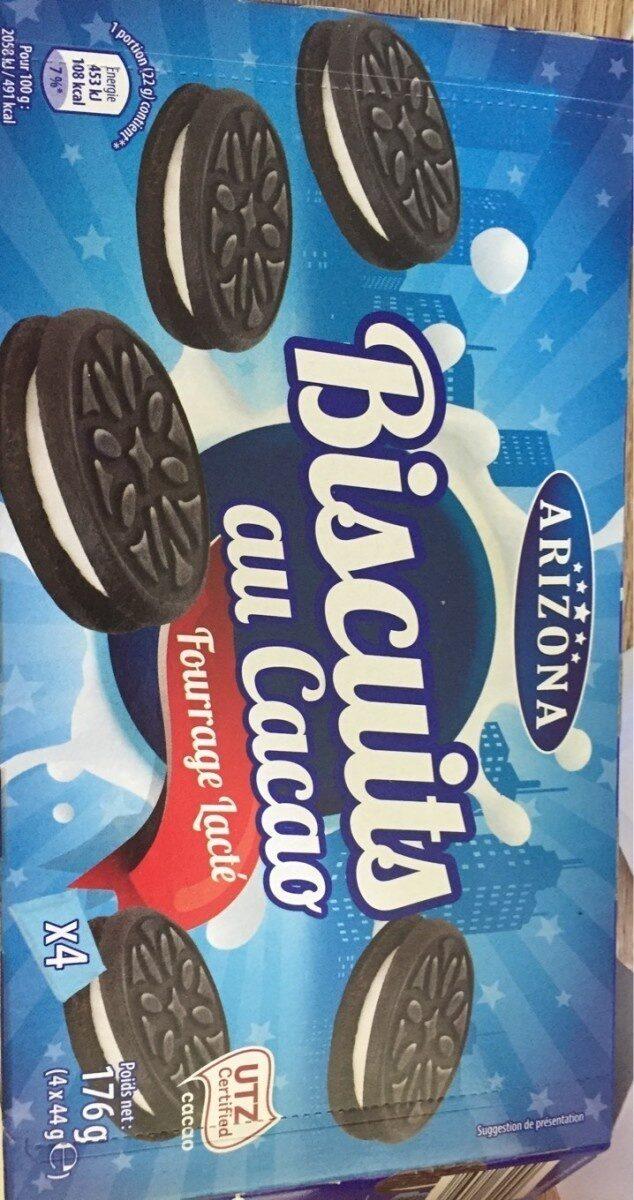 Biscuits cacaotés fourrés saveur vanille - Produit - fr