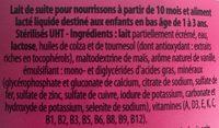 Lait Croissance 3 - Ingrédients - fr