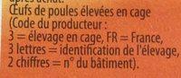 10 Œufs frais (calibre Gros L) - Ingrédients - fr