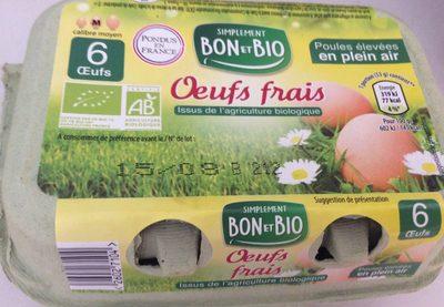 6 oeufs frais (pondus en France) - Producto