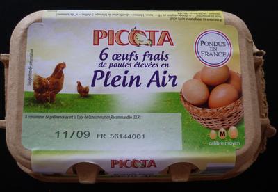 6 Œufs frais Plein Air - Product - fr