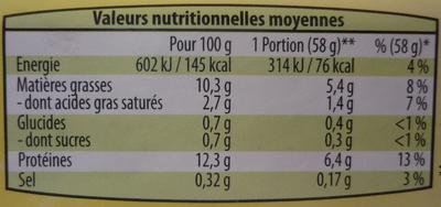 6 Œufs frais Plein Air - Voedingswaarden - fr