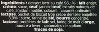 Dessert au café, avec brisures de crêpes dentelle - Ingredients