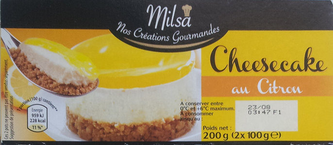 Cheesecake au citron - Product