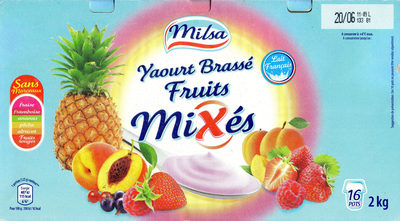 Yaourt brassé fruits mixés 16 pots - Product