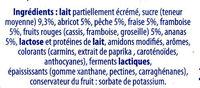 Yaourt brassé fruits mixés 16 pots - Ingrediënten - fr