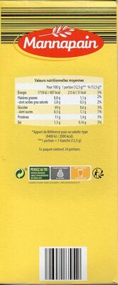 Tartines briochées Fines et savoureuses - Voedingswaarden - fr
