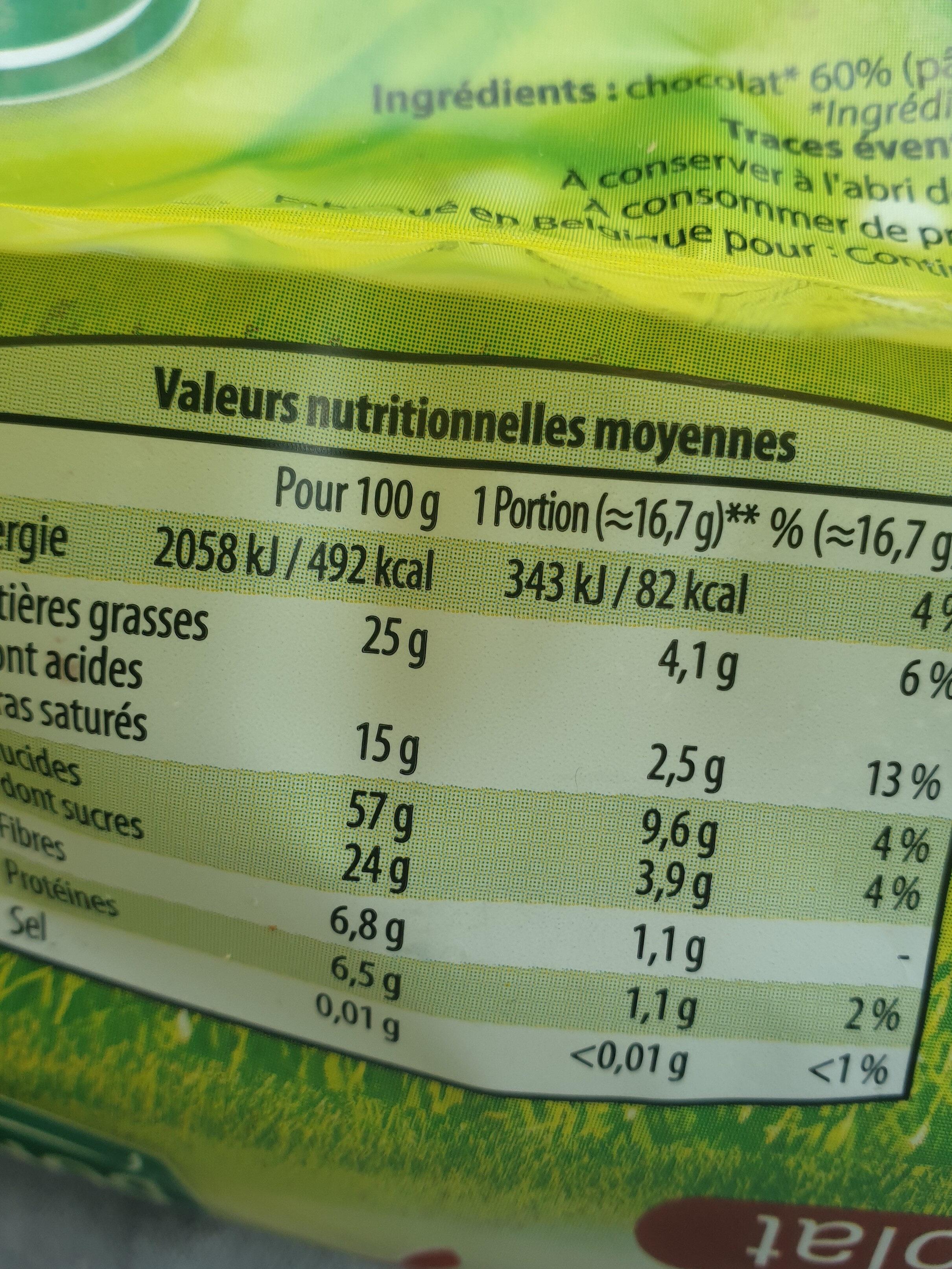 Galettes de Riz au chocolat - Nutrition facts - fr