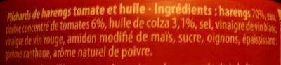 Picards de harengs - Ingredienti - fr