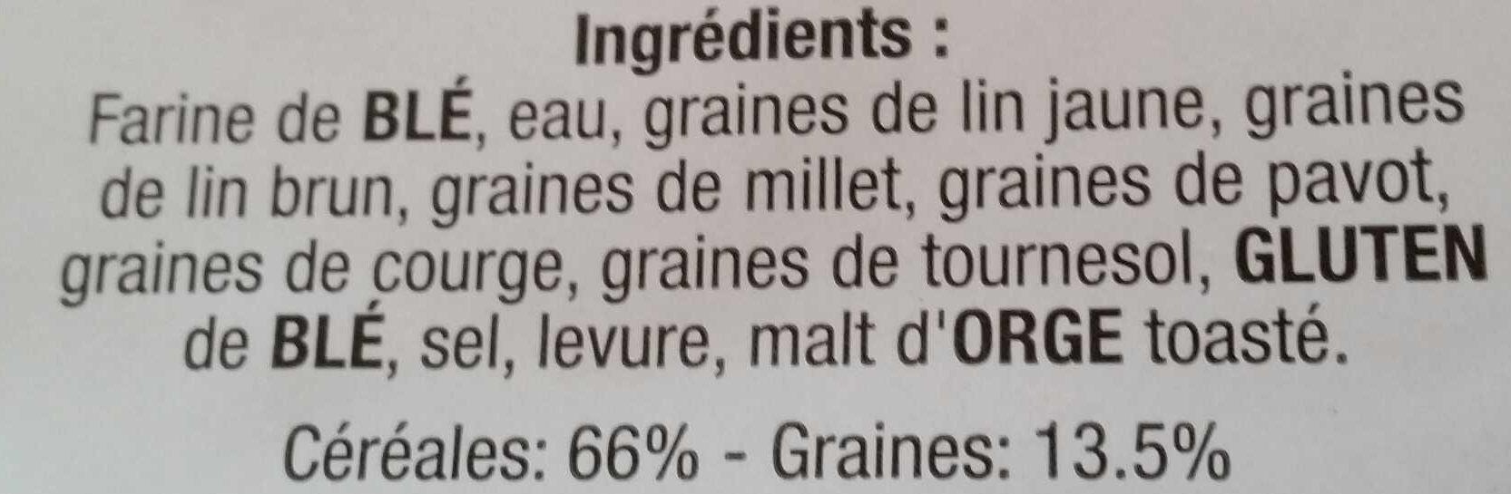 Pain Spécial aux Céréales - Ingrédients - fr