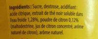 Boisson Instantanée Thé Citron - Ingredients