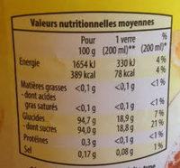 Boisson Instantanée Thé Citron - Nutrition facts