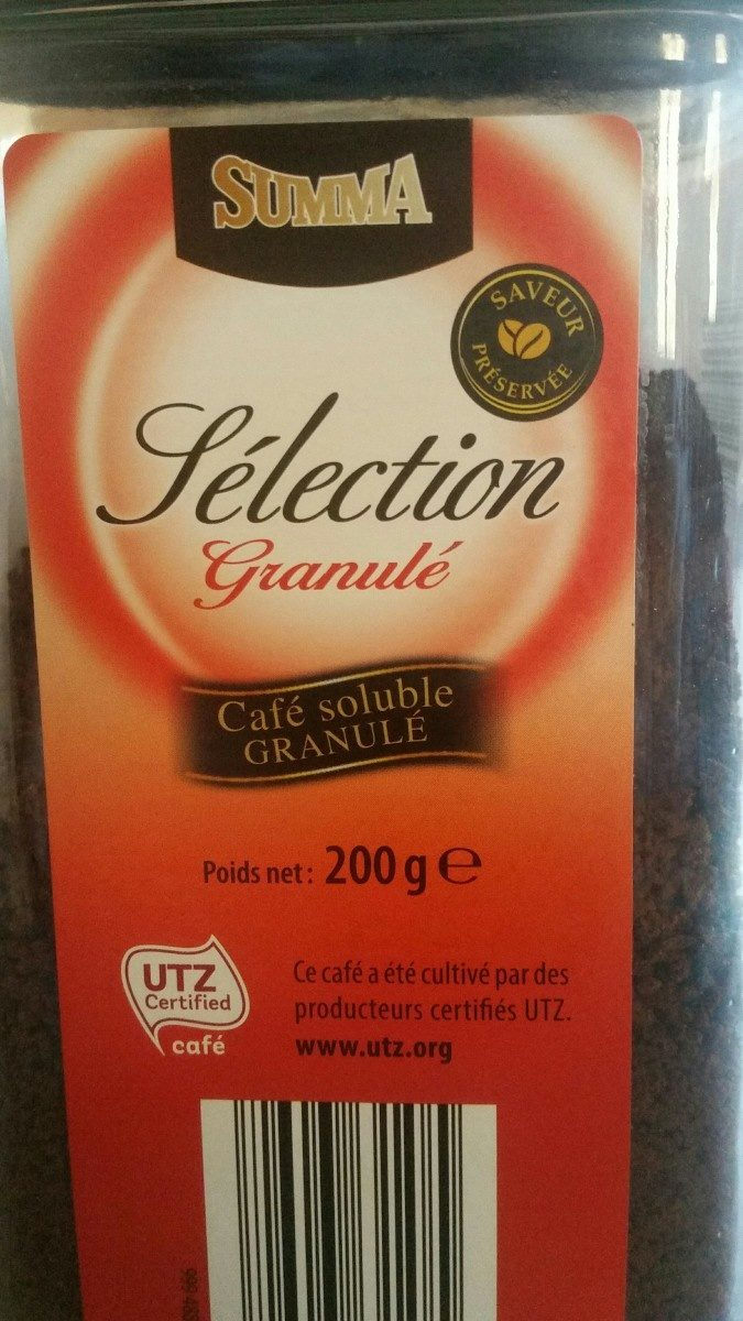 Café soluble sélection - Ingredients - fr