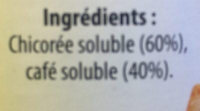 Chicorée Café, Soluble (112 tasses) - Ingrédients - fr