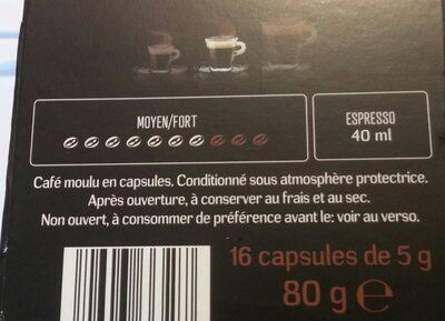 Moreno espresso - Ingrédients - fr