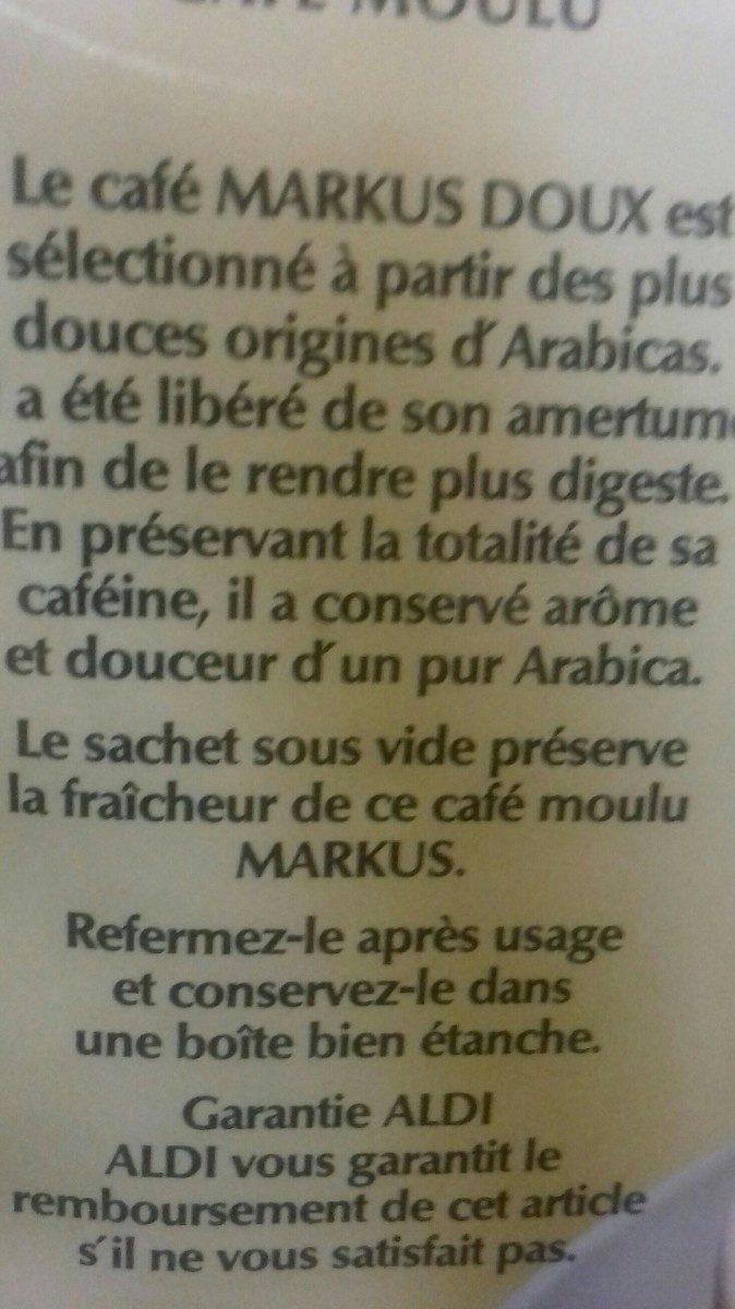 Café Moulu Doux Pur Arabica 500g - Ingredients - fr