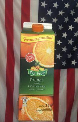 Orange 100% pur jus orange sans pulpe (format familial) - Product