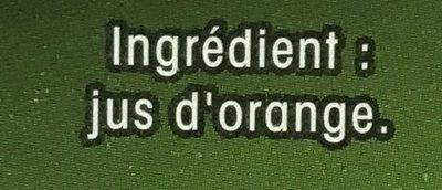 Orange 100% pur jus orange sans pulpe (format familial) - Ingredients