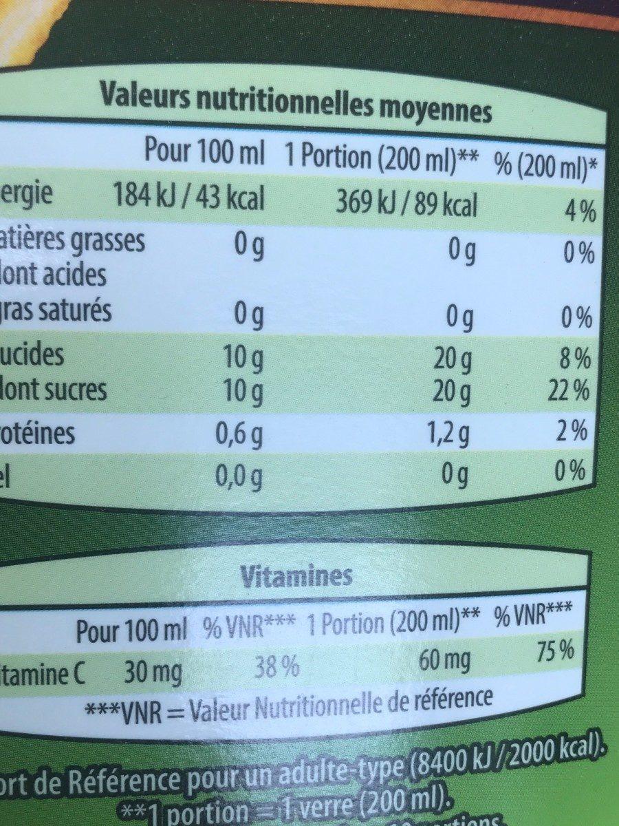 100% pur jus orange - Voedigswaarden
