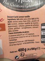 Petit pot de crème saveur vanille - Ingrédients - fr
