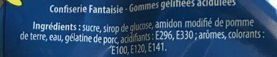 Langues acides - Ingredients - fr