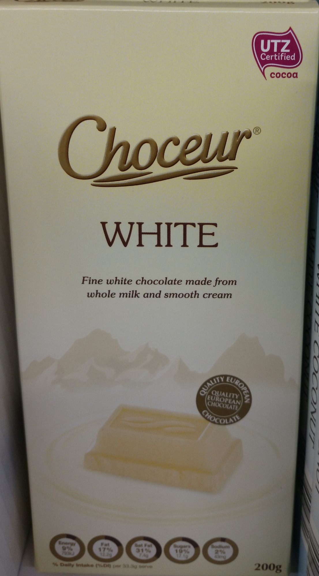 Choceur White Chocolate - Product - en