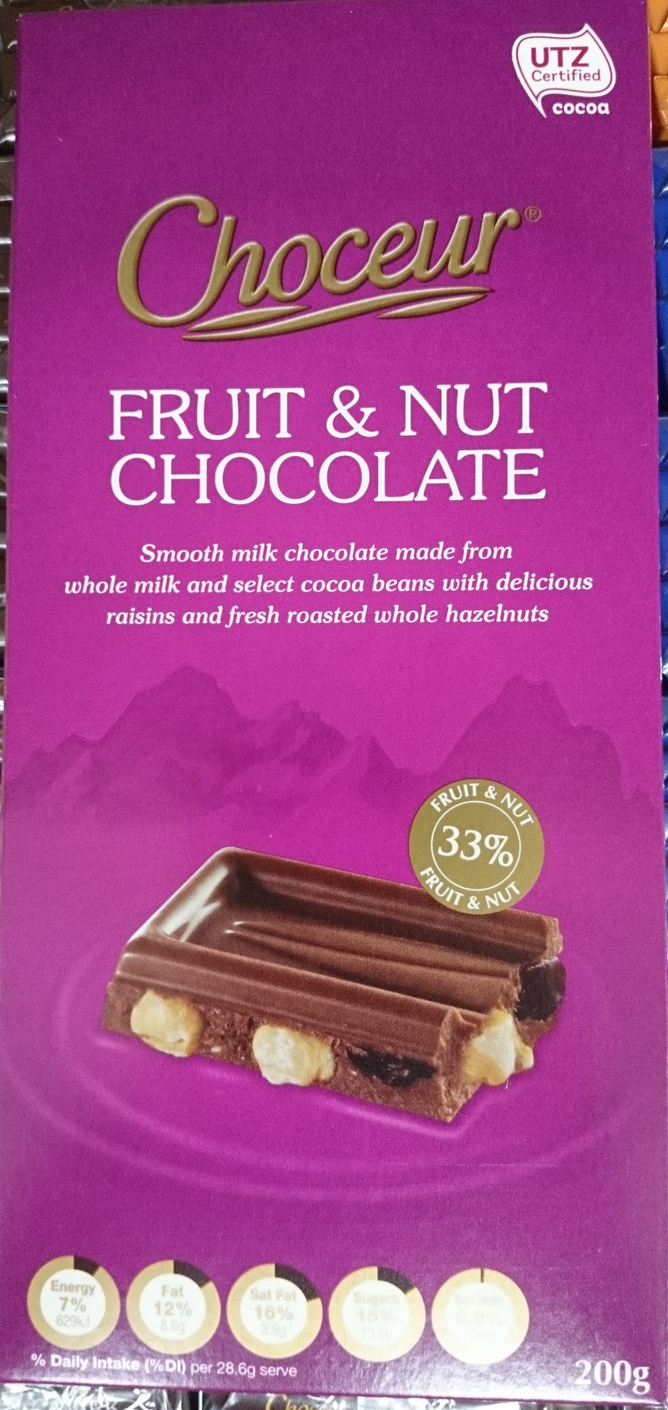 Choceur Fruit and Nut Chocolate - Product
