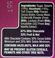 Choceur Fruit and Nut Chocolate - Ingredients