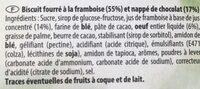Tendre cerise - Ingredients