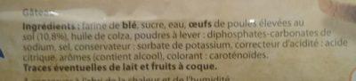 Barre Pâtissière - Ingredients